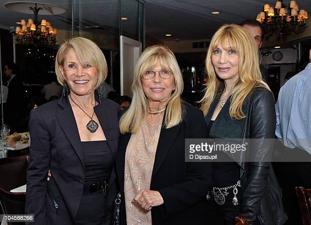 Beth Ansley singer Nancy Sinatra and actress Maureen Van Zandt attend the Sinatra Family Estates Wine Dinner at Patsy's on September 30 2010 in New...