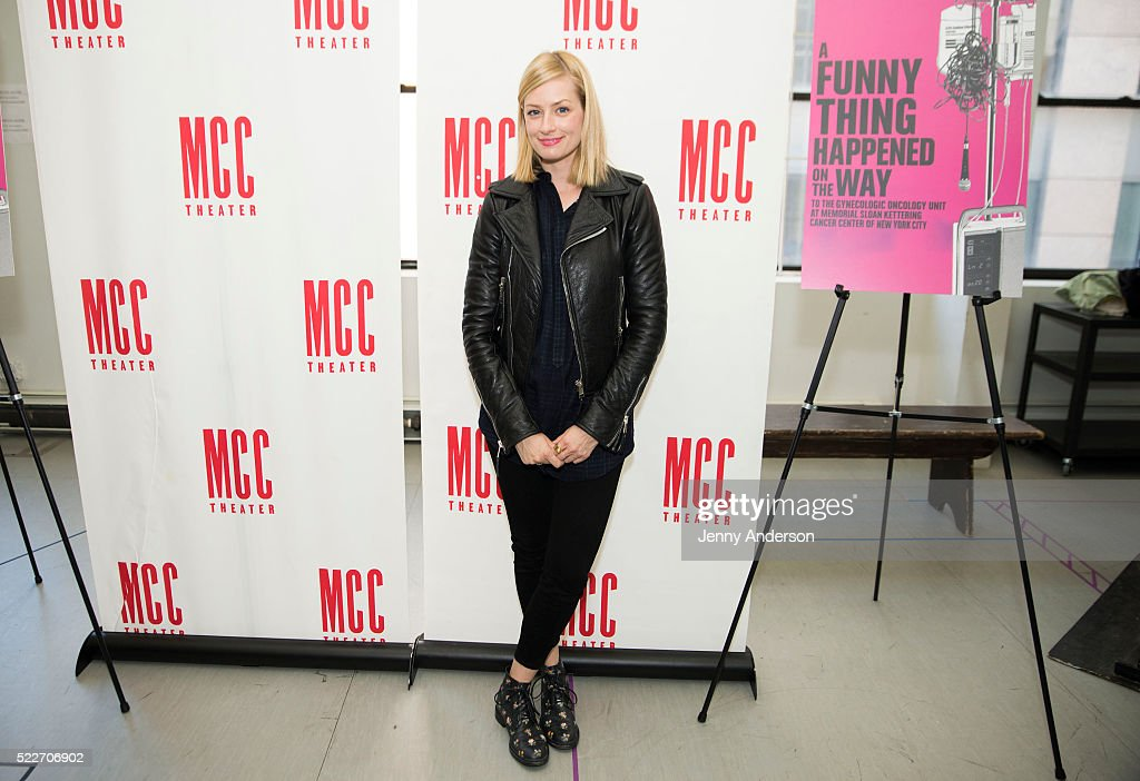 Beth Behrs attends 'A Funny Thing Happened on the Way to the Gynecologic Oncology Unit at Memorial SloanKettering Cancer Center of New York City'...