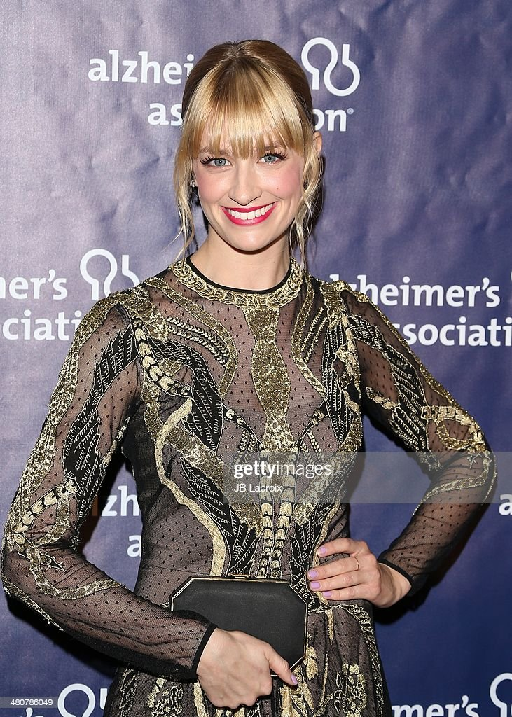 <a gi-track='captionPersonalityLinkClicked' href=/galleries/search?phrase=Beth+Behrs&family=editorial&specificpeople=6556378 ng-click='$event.stopPropagation()'>Beth Behrs</a> attends 'A Night At Sardi's' To Benefit The Alzheimer's Association held at the Beverly Hitlon Hotel on March 26, 2014 in Beverly Hills, California.