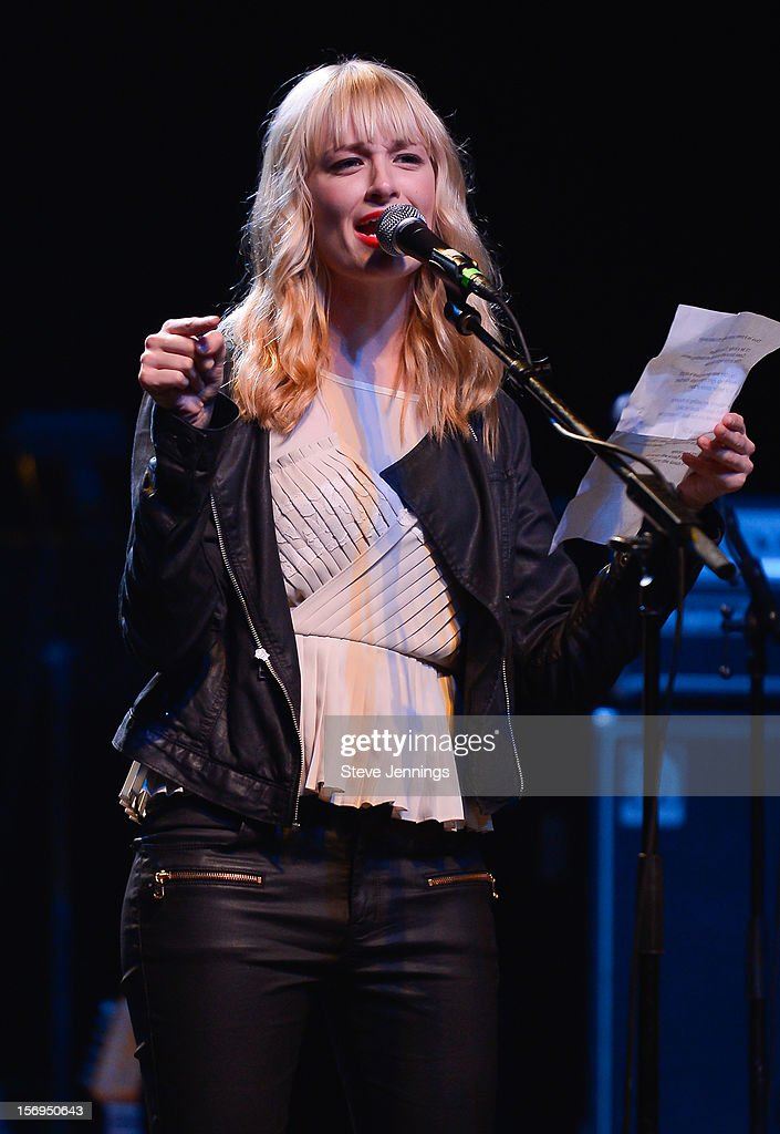 Beth Behrs performs at The Last Waltz Tribute Concert at The Warfield Theater on November 24, 2012 in San Francisco, California.