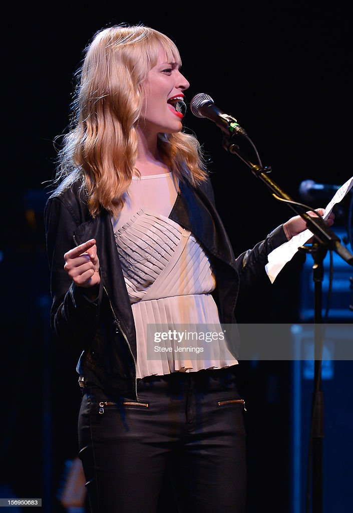 <a gi-track='captionPersonalityLinkClicked' href=/galleries/search?phrase=Beth+Behrs&family=editorial&specificpeople=6556378 ng-click='$event.stopPropagation()'>Beth Behrs</a> performs at The Last Waltz Tribute Concert at The Warfield Theater on November 24, 2012 in San Francisco, California.