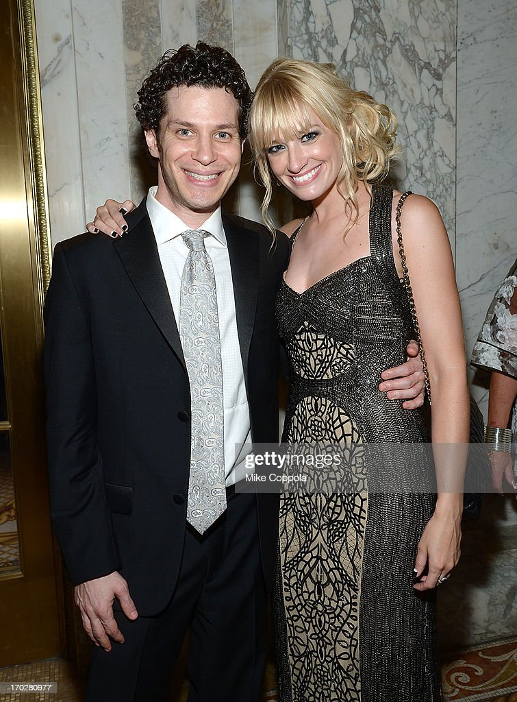 <a gi-track='captionPersonalityLinkClicked' href=/galleries/search?phrase=Beth+Behrs&family=editorial&specificpeople=6556378 ng-click='$event.stopPropagation()'>Beth Behrs</a> (R) poses for a picture on June 9, 2013 in New York City.