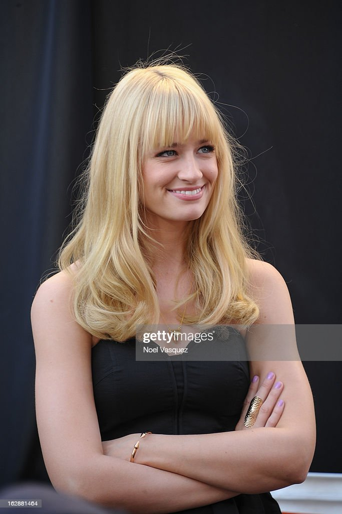 Beth Behrs visits Extra at The Grove on February 28, 2013 in Los Angeles, California.