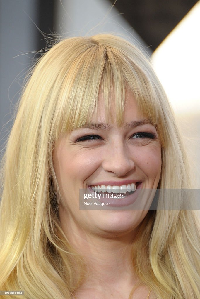 <a gi-track='captionPersonalityLinkClicked' href=/galleries/search?phrase=Beth+Behrs&family=editorial&specificpeople=6556378 ng-click='$event.stopPropagation()'>Beth Behrs</a> visits Extra at The Grove on February 28, 2013 in Los Angeles, California.