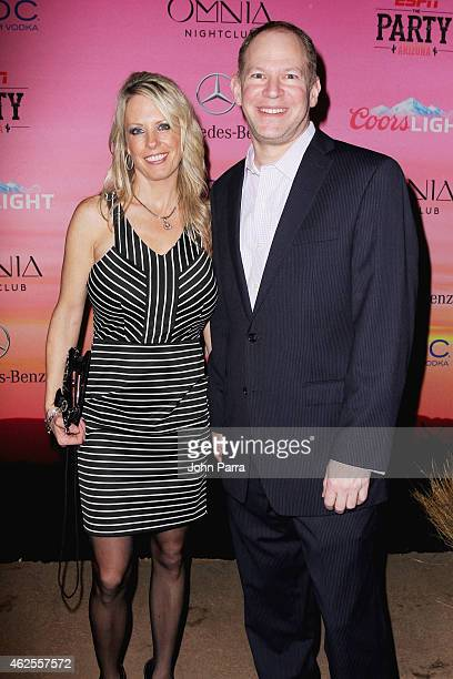 Beth Berry and ESPN fantasy sports analyst Matthew Berry attend ESPN the Party at WestWorld of Scottsdale on January 30 2015 in Scottsdale Arizona