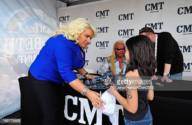 Beth Chapman and Dog the Bounty Hunter aka Duane Chapman attend the ACM Experience during the 48th Annual Academy of Country Music Awards at the...