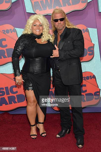 Beth Chapman and Duane 'Dog' Chapman attend the 2014 CMT Music awards at the Bridgestone Arena on June 4 2014 in Nashville Tennessee
