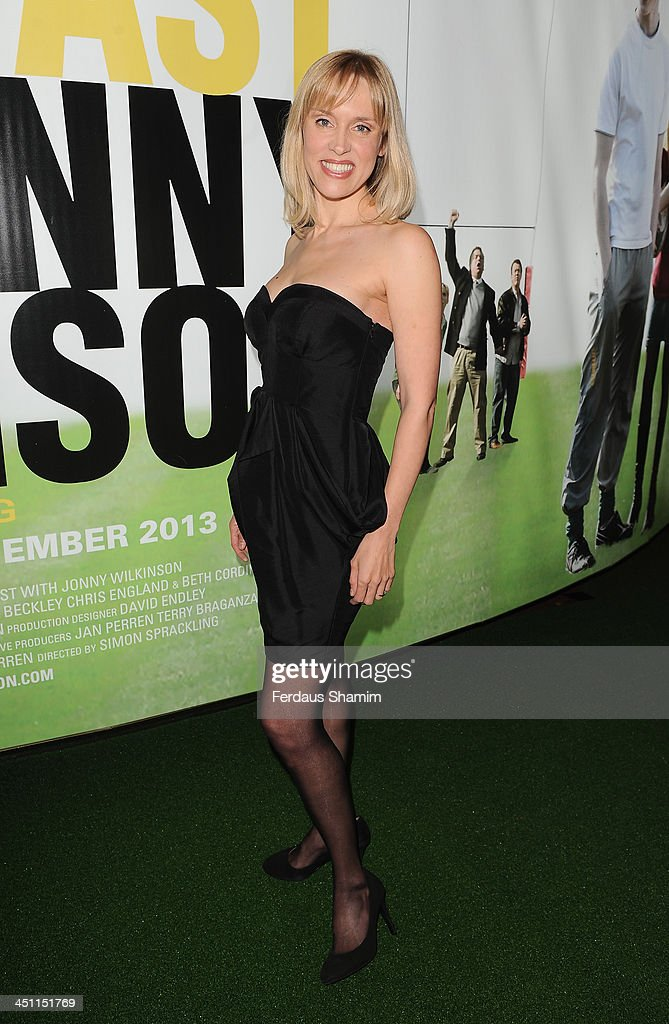 Beth Cordingley attends the world premiere of 'Breakfast With Jonny Wilkinson' at Empire Leicester Square on November 21, 2013 in London, England.