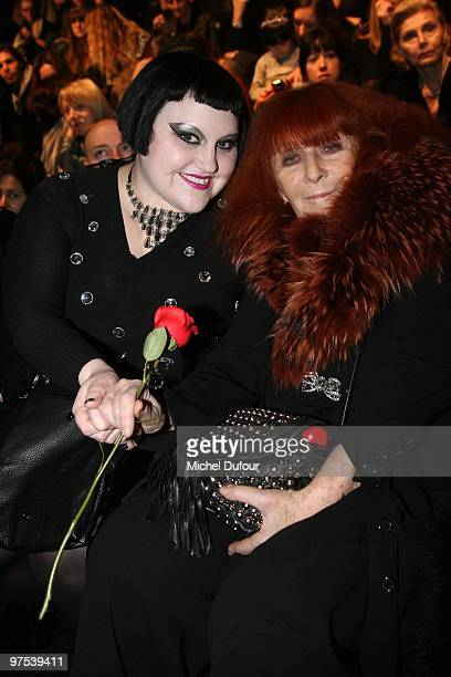 Beth Ditto and designer Sonia Rykiel attend the Sonia Rykiel Ready to Wear show as part of the Paris Womenswear Fashion Week Fall/Winter 2011 at...
