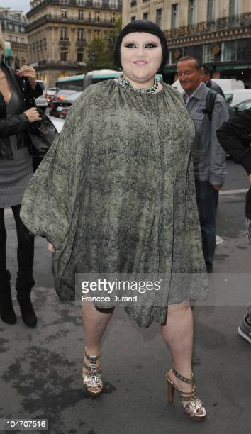 Beth Ditto arrives for the Stella McCartney Ready to Wear Spring/Summer 2011 show during Paris Fashion Week at Opera Garnier on October 4 2010 in...
