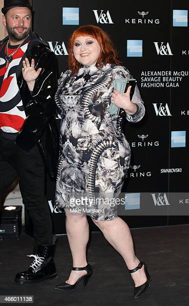 Beth Ditto attends a private view for the 'Alexander McQueen Savage Beauty' exhibition at Victoria Albert Museum on March 12 2015 in London England