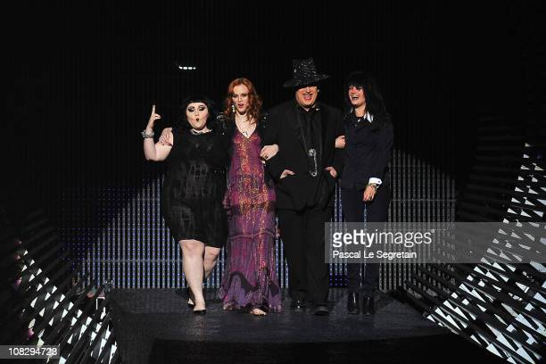 Beth Ditto Karen Elson Boy George and Alison Mosshart walk the runway during the Etam Fashion Show Spring/Summer 2011 Collection Launch at Grand...