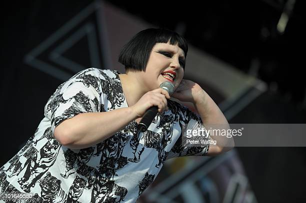 Beth Ditto of Gossip performs on stage during the third day of Rock am Ring on June 5 2010 in Nuerburg Germany