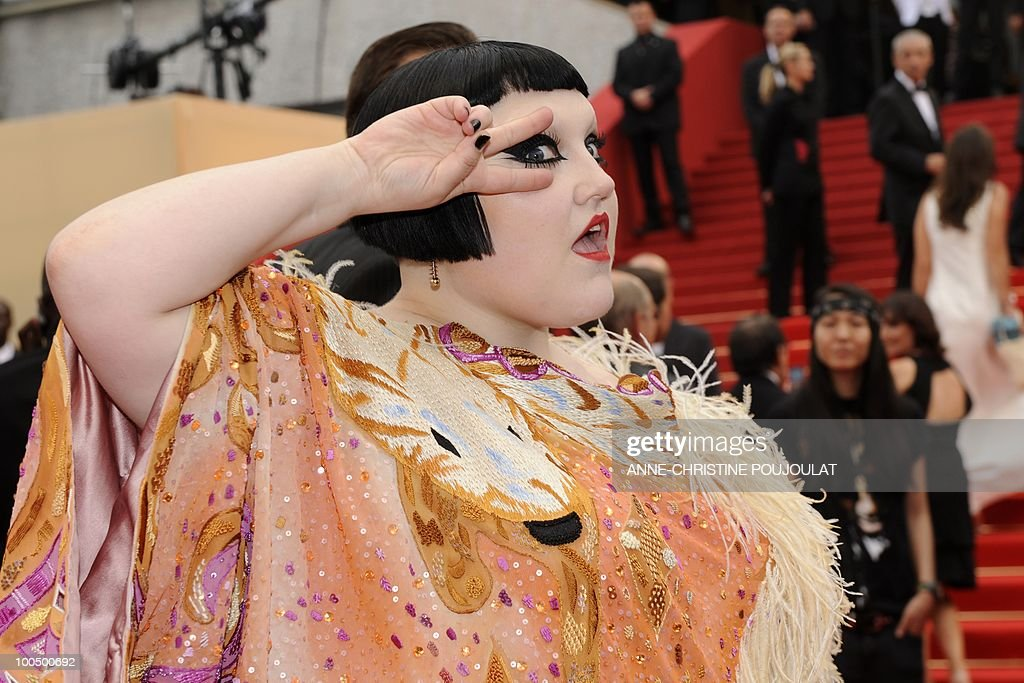 Beth Ditto of the US, lead singer of 'The Gossip,' arrives for the screening of 'Hors La Loi' (Outside of the Law) presented in competition at the 63rd Cannes Film Festival on May 21, 2010 in Cannes.