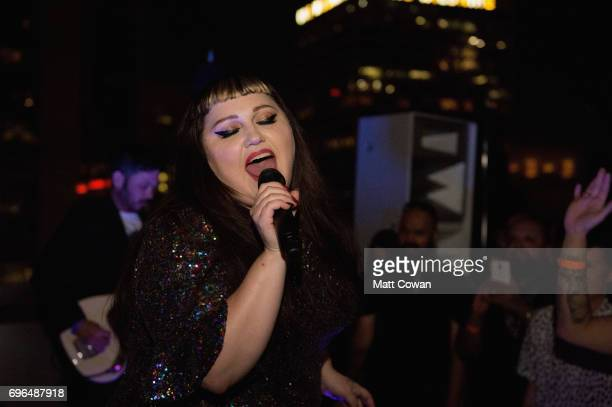 Beth Ditto performs at her Record Release Party for new album 'Fake Sugar' at the Standard Hotel on June 15 2017 in Los Angeles California