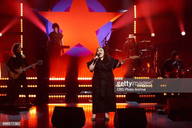 Beth Ditto performs during 'The Late Late Show with James Corden' Thursday June 15 2017 On The CBS Television Network
