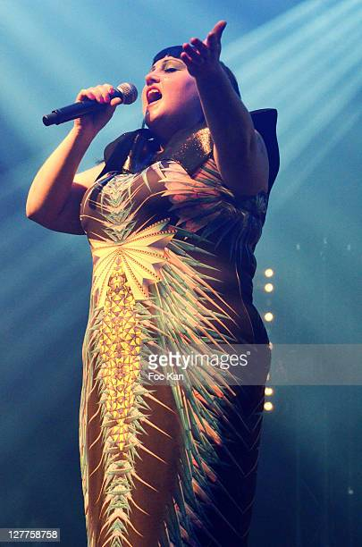 Beth Ditto performs during the Villette Sonique Festival Nuit Sonique at Grande Halle of La Vilette on May 27 2011 in Paris France