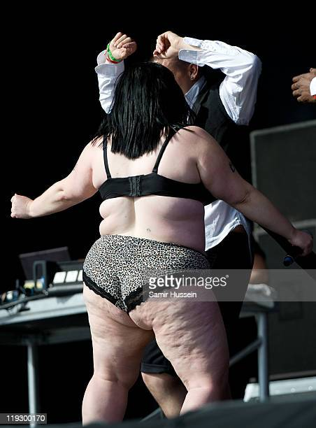 Beth Ditto performs on day 3 of Lovebox on July 17 2011 in Victoria Park in London England