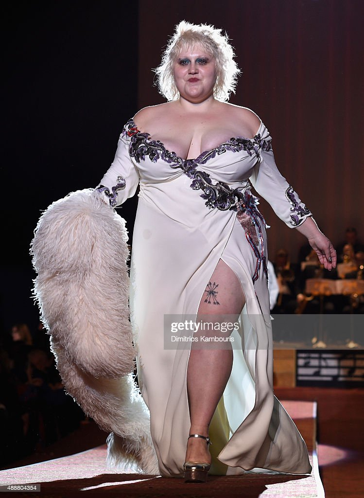 Beth Ditto walks the runway at the Marc Jacobs Spring 2016 fashion show during New York Fashion Week at Ziegfeld Theater on September 17 2015 in New...