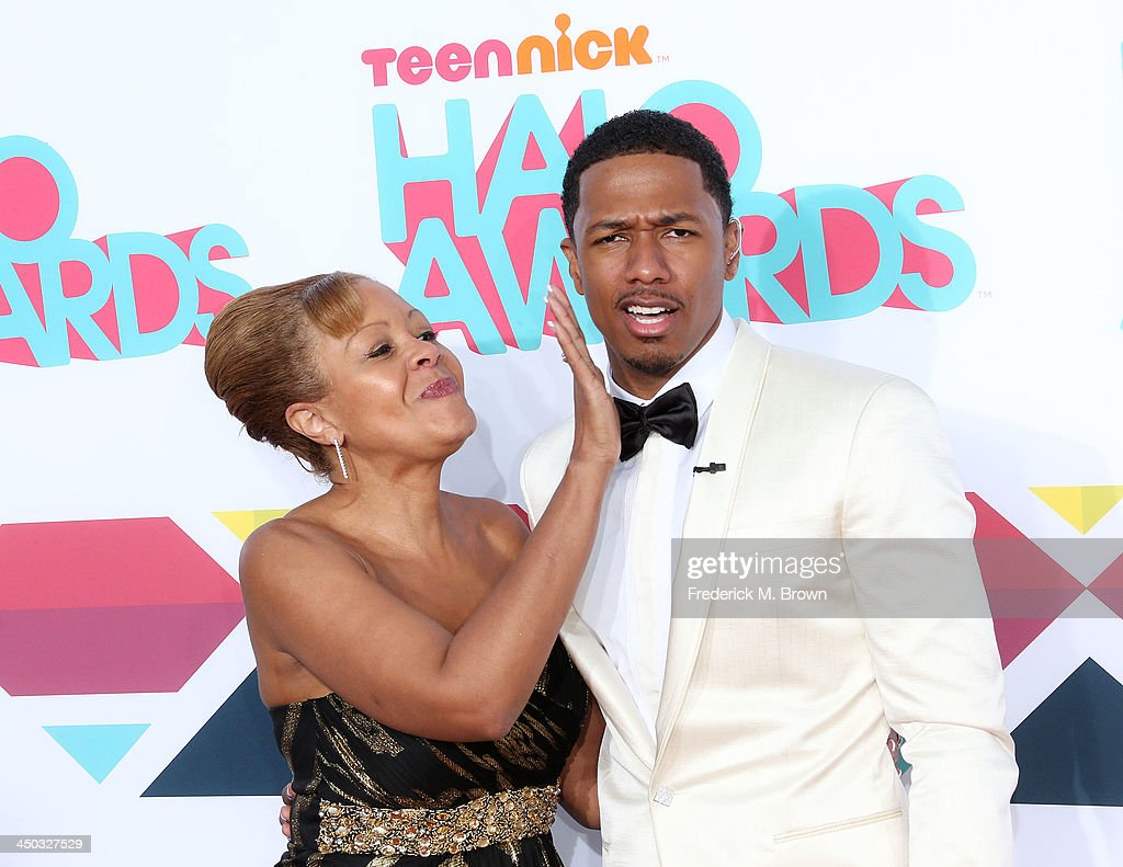 Beth Gardner (L) and host <a gi-track='captionPersonalityLinkClicked' href=/galleries/search?phrase=Nick+Cannon&family=editorial&specificpeople=202208 ng-click='$event.stopPropagation()'>Nick Cannon</a> attend the 2013 HALO Awards at the Hollywood Palladium on November 17, 2013 in Hollywood, California.
