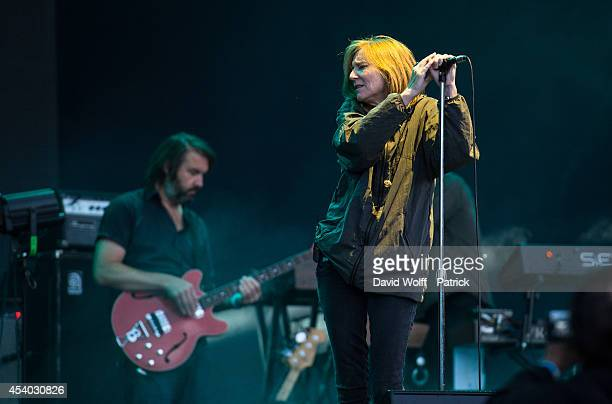 Beth Gibbons from Portishead performs at Rock en Seine Festival at on August 23 2014 in SaintCloud France