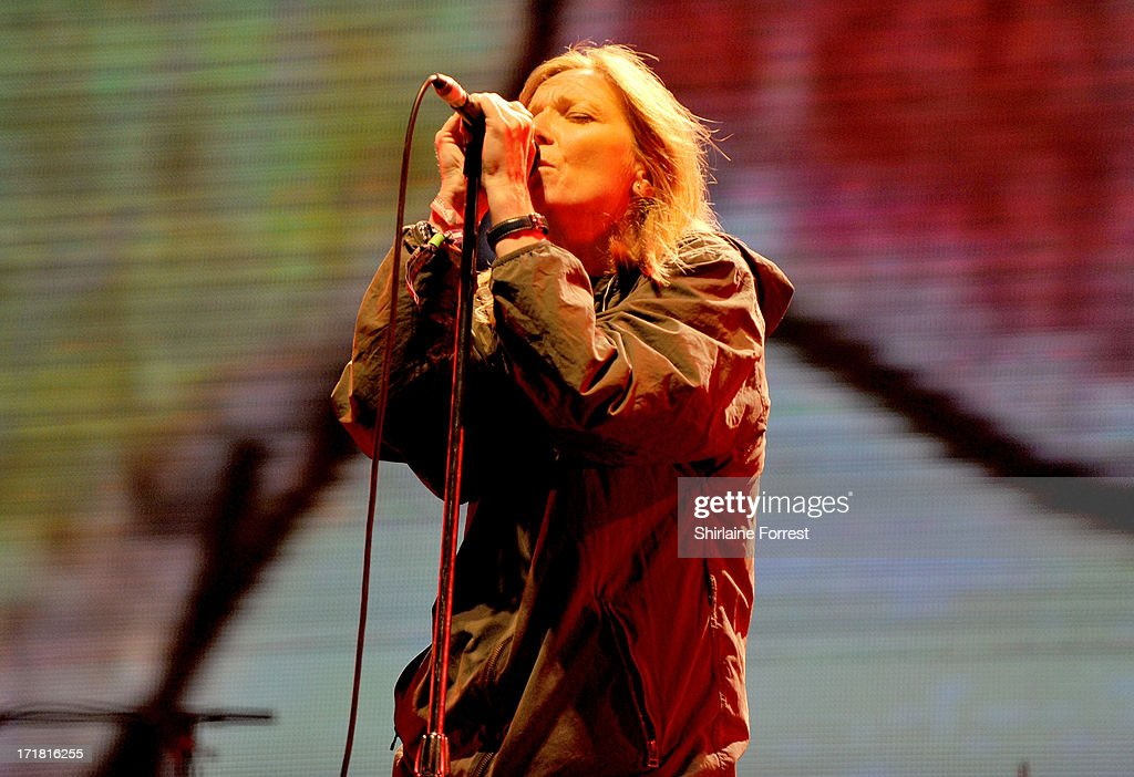 Beth Gibbons of Portishead performs headlining The Other Stage on day 2 of the 2013 Glastonbury Festival at Worthy Farm on June 28, 2013 in Glastonbury, England.