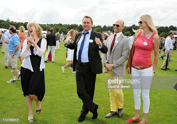 Beth Goddard Philip Glenister Matt Dawson and Carolin Hauskeller attend the Audi International Polo at Guards Polo Club on July 28 2013 in Egham...