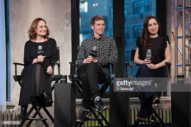 Beth Grant Daryl Wein and Zoe Lister Jones attend AOL BUILD Series 'Consumed' at AOL Studios In New York on November 20 2015 in New York City