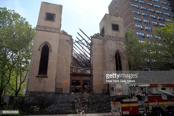 Beth Hamedrash Hagodol synagogue at 60 Norfolk Street in the Lower East Side on Monday May 15 a day after a fire ravaged the 167yearold landmark