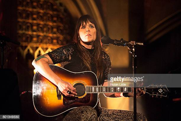 Beth Hart performs at the Union Chapel on December 14 2015 in London England