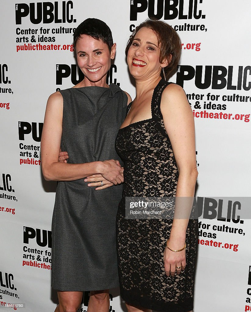 Beth Malone (L) and Judy Kuhn attend the opening night celebration of 'Fun Home' at The Public Theater on October 22, 2013 in New York City.