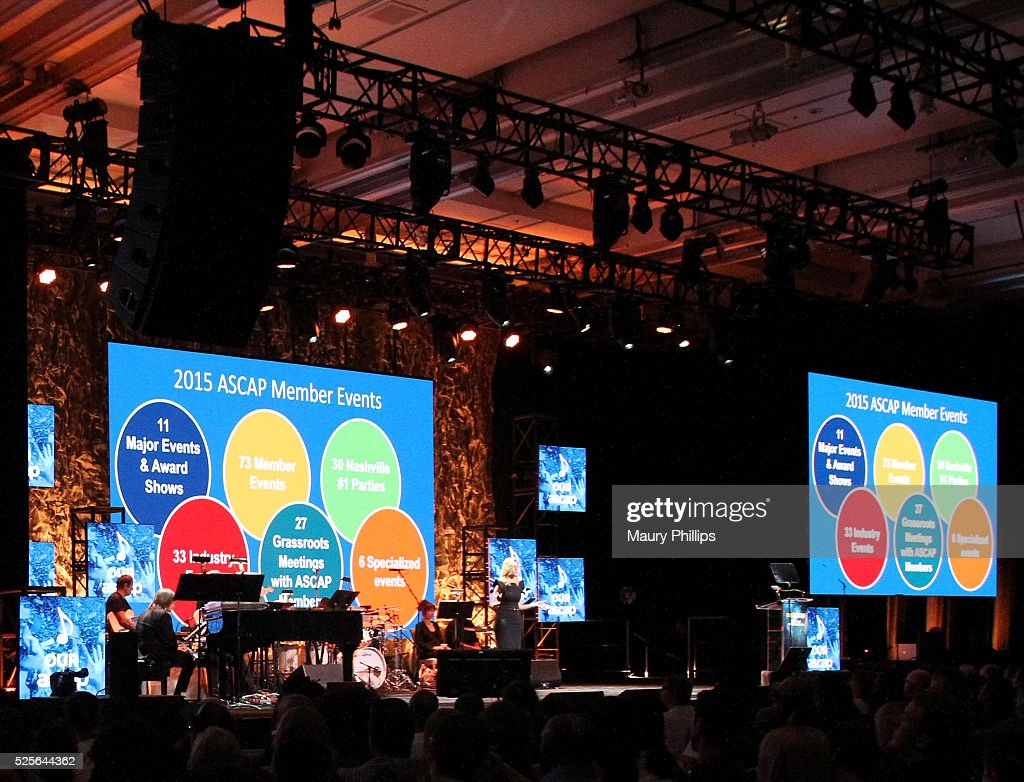 Beth Matthews (C) speaks onstage during the ASCAP Annual Membership Meeting and ASCAP EXPO Kickoff, part of the 2016 ASCAP 'I Create Music' EXPO on April 28, 2016 in Los Angeles, California.