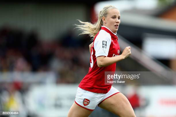 Beth Mead in action during the Women's Super League 1 match between Arsenal and Bristol City at Meadow Park Boreham Wood on October 8 2017 in London...