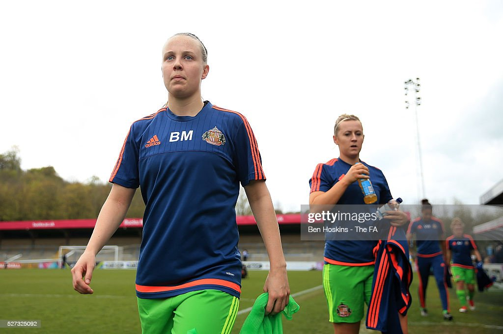 Beth Mead of Sunderland looks on ahead of the WSL 1 match between Reading FC Women and Sunderland AFC Ladies on May 2, 2016 in High Wycombe, England.