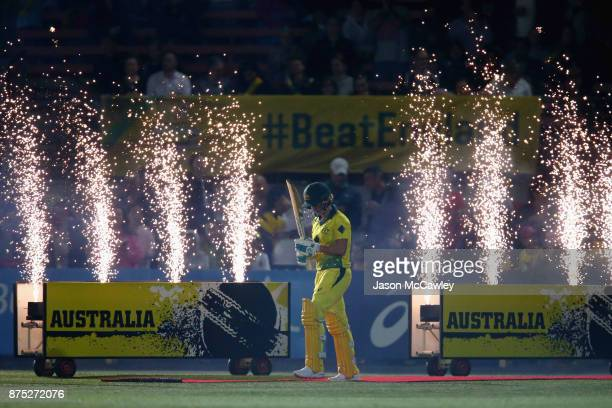 Beth Mooney of Australia takes to the field during the first Women's Twenty20 match between Australia and England at North Sydney Oval on November 17...