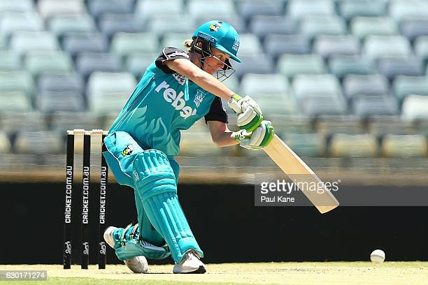 Beth Mooney of the Heat bats during the WBBL match between the Scorchers and Heat at WACA on December 18 2016 in Perth Australia