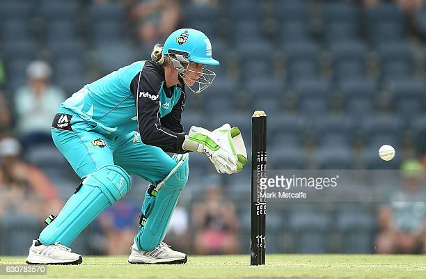 Beth Mooney of the Heat keeps wicket during the WBBL match between Heat and Thunder at Blacktown International Sportspark on January 2 2017 in Sydney...