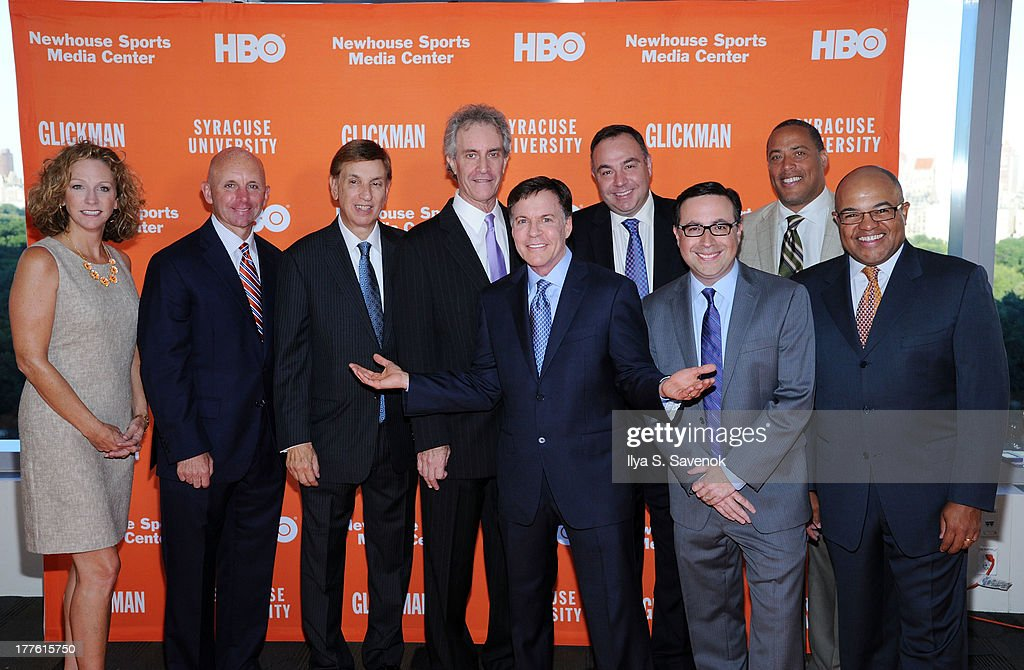 Beth Mowins Sean McDonough Marv Albert James Freedman Bob Costas Bill Roth Ian Eagle Don McPherson and Mike Tirico attend Syracuse University special...