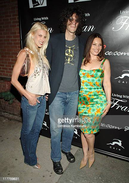 Beth Ostrosky Howard Stern and Fran Drescher during Fran Drescher Celebrates the Premiere of 'Living With Fran' Sponsored by Pureromancecom at Cain...