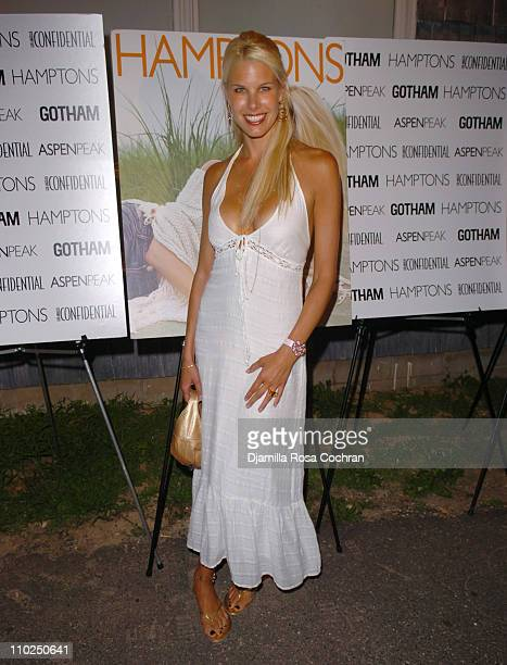 Beth Ostrosky is wearing a Pippo Watch during Cover Model Beth Ostrosky Celebrates her Birthday with Hamptons Magazine and Bulgari Aqua at Cain in...