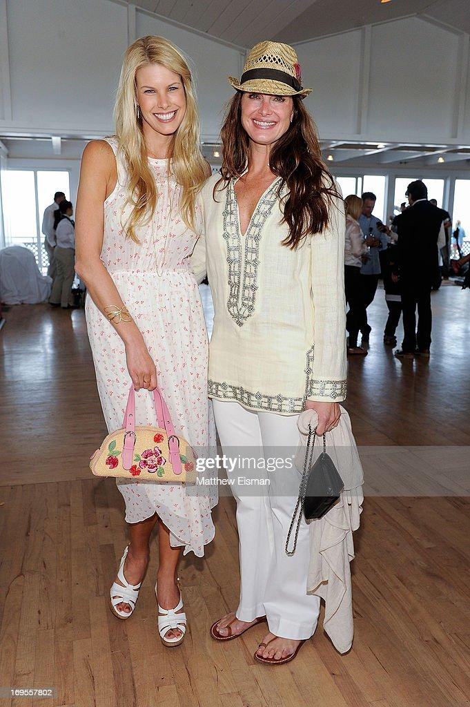Beth Ostrosky Stern (L) and Brooke Shields attend Haley & Jason Binn's Annual DuJour Summer Kick Off Soiree with The Borgata Hotel & Casino at Bridgehampton Tennis and Surf Club on May 26, 2013 in Bridgehampton, New York.