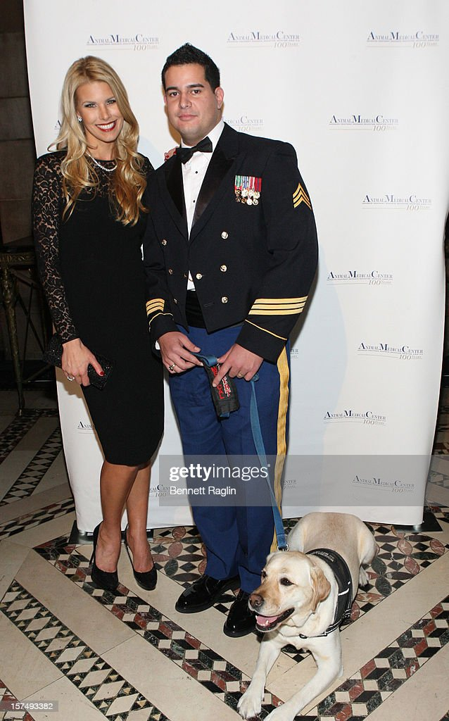 Beth Ostrosky Stern, U.S. Army Veteran Will Pagan and service dog Oprah attend The Animal Medical Center's TOP DOG Gala at Cipriani 42nd Street on December 3, 2012 in New York City.