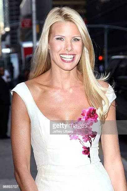 Beth Ostrosky Stern visits 'Late Show With David Letterman' at the Ed Sullivan Theater on May 6 2010 in New York City
