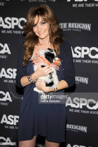 Beth Shak and Bennie the Dog attend The Young Friends of The ASPCA presents 'It's Raining Cats and Dogs' Annual Fundraiser at The IAC Building on...