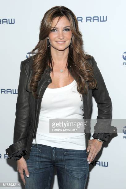 Beth Shak attends GSTAR RAW Spring 2011 Fashion Week Show at Pier 94 on September 14 2010 in New York City
