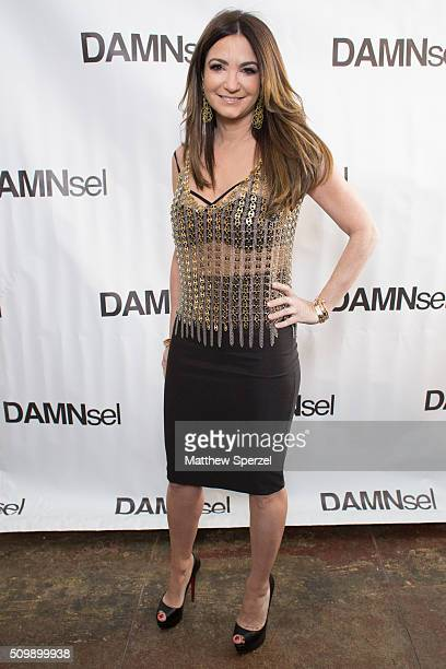 Beth Shak wearing Paco Rabbane attends the Damnsel 'Garmeoplasty' presentation during Fall 2016 New York Fashion Week on February 12 2016 in New York...