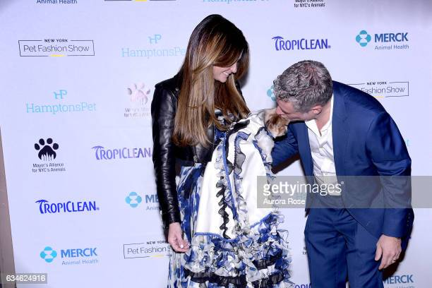 Beth ShakLeventhal Mila and Rick Leventhal attend Beth ShakLeventhal Awarded NY Pet Fashion Show Humanitarian Award at Hotel Pennsylvania on February...