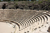 Beth Shean, the Roman amphitheater, built in the 1st century CE