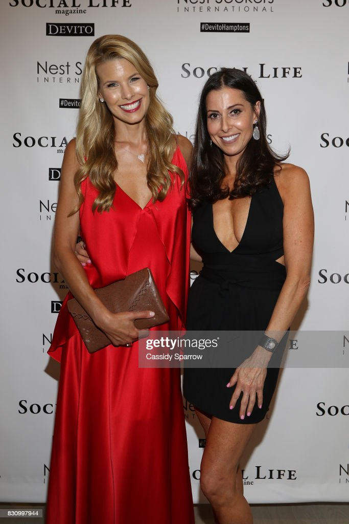 Beth Stern and Christine Montanti attend the Social Life Magazine Nest Seekers August Issue Party on August 12, 2017 in Southampton, New York.