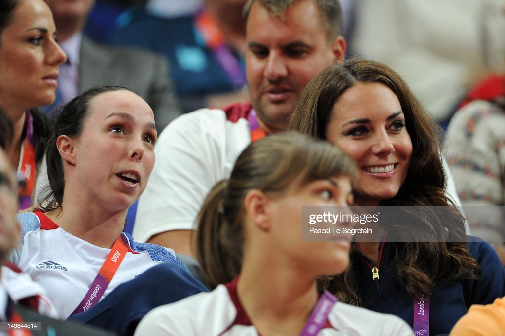 <a gi-track='captionPersonalityLinkClicked' href=/galleries/search?phrase=Beth+Tweddle&family=editorial&specificpeople=804240 ng-click='$event.stopPropagation()'>Beth Tweddle</a> (L) and <a gi-track='captionPersonalityLinkClicked' href=/galleries/search?phrase=Catherine+-+Duchess+of+Cambridge&family=editorial&specificpeople=542588 ng-click='$event.stopPropagation()'>Catherine</a>, Duchess of Cambridge on Day 9 of the London 2012 Olympic Games at North Greenwich Arena on August 5, 2012 in London, England.